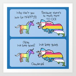 Marriage Equality (Horned Warrior Friends) Art Print