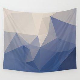 Blueberg – modern polygram illustration Wall Tapestry
