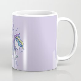 Mermaid Riding Unicorn Purple Coffee Mug