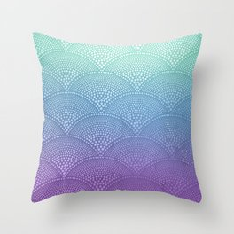 Purple & Turquoise Scallop Throw Pillow