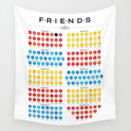 Tribute to Friends Wall Tapestry