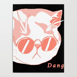 A Cat with Sunglasses Poster