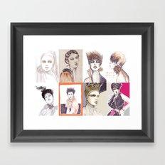 Fashion illustration composition Framed Art Print