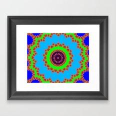 Lovely Healing Mandalas in Brilliant Colors: Royal Blue, Green, Light Blue, Orange, Maroon and Pink Framed Art Print