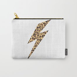 Wild Thing Leopard Lightning Bolt Carry-All Pouch