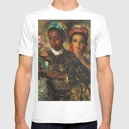 "African American Masterpiece ""Women Arranging a Bouquet of Flowers' by Jose Cruz Herrera T-shirt"
