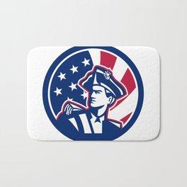 American Patriot USA Flag Icon Bath Mat