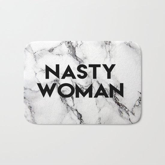 Nasty Woman (marble) Bath Mat