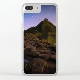 The Giants Causeway with the stars | Print (RR 269) Clear iPhone Case