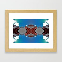 Hexagonal Troubles Framed Art Print