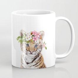 Tiger Cub with Flower Crown Coffee Mug