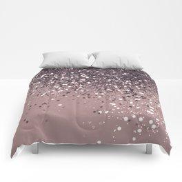 Sparkling Mauve Lady Glitter #3 #shiny #decor #art #society6 Comforters