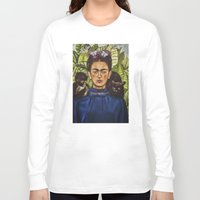 frida Long Sleeve T-shirts featuring FRIDA by NOXBIL