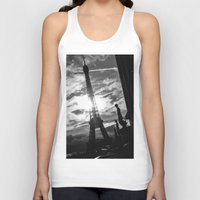 eiffel Tank Tops featuring Eiffel by Nat Alonso