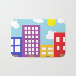Microsoft Paint City Bath Mat