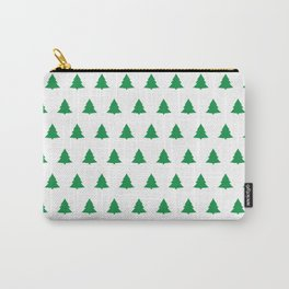 seamless green christmas tree pattern Carry-All Pouch