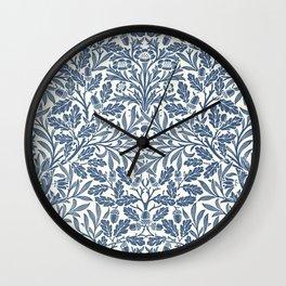 William Morris Navy Blue Botanical Pattern 2 Wall Clock