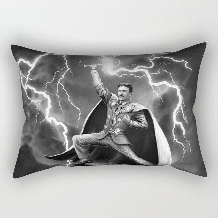 Tesla: God of Thunder Rectangular Pillow