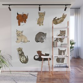 Kittens Worldwide Wall Mural