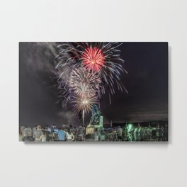 Fourth Of July Fireworks Gloucester Metal Print
