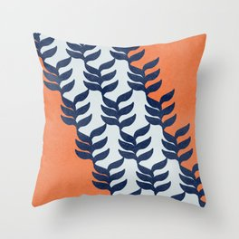 Colorful design with plants Throw Pillow
