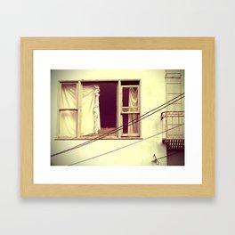 window treatments Framed Art Print