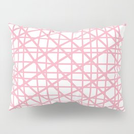 Texture lines pink and white Pillow Sham