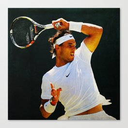 Nadal Tennis Over the Head Forehand Canvas Print