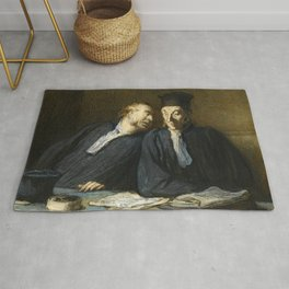 "Honoré Daumier ""Two Lawyers Conversing"" Rug"