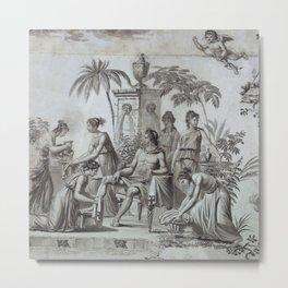 Apollo and Muses Circa 1785 Metal Print