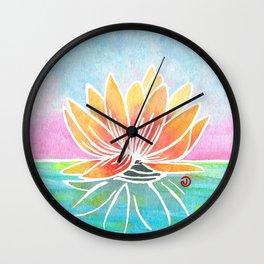 Rainbow Lotus Wall Clock