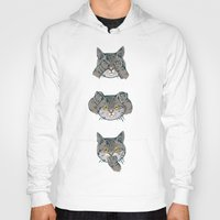 evil Hoodies featuring No Evil Cat by Huebucket