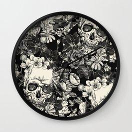 SKULLS HALLOWEEN Wall Clock