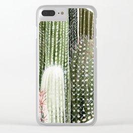 Circular Cacti Clear iPhone Case