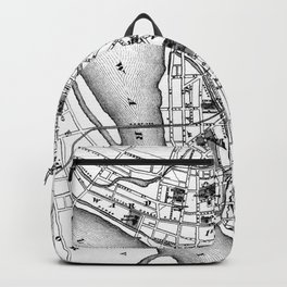 Vintage Map of Trenton NJ (1872) Backpack