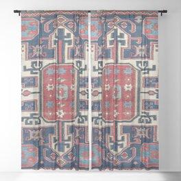 Shahsavan Southeast Caucasus Bag Face Print Sheer Curtain