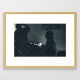 Jazz Bassist and Drummer Framed Art Print