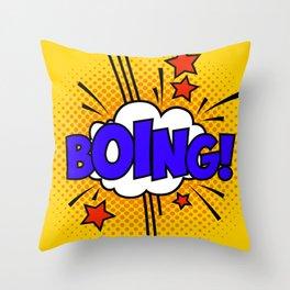 Boing ! Throw Pillow