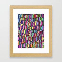 Squiggle Trip Framed Art Print