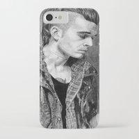 matty healy iPhone & iPod Cases featuring Matty Healy by rachelmbrady_art