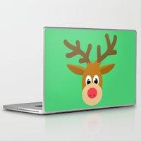 reindeer Laptop & iPad Skins featuring reindeer by elvia montemayor
