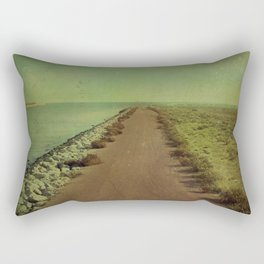 The end of the road Rectangular Pillow
