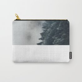 Misty Foggy Minimalist Landscape Photography Pine Forest Carry-All Pouch