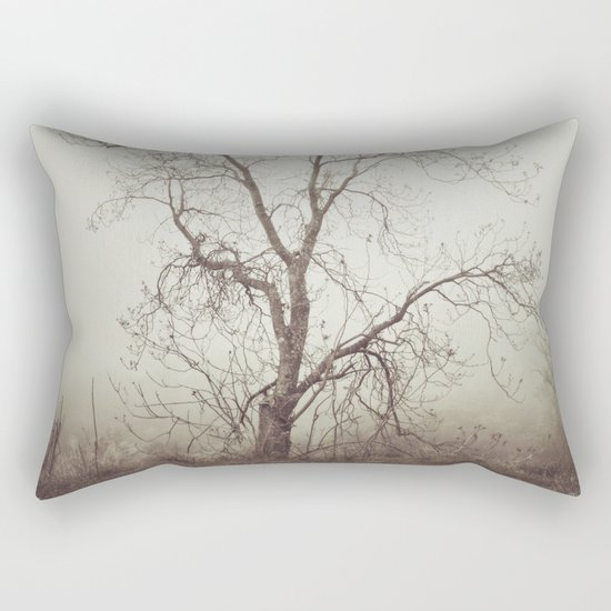 """"""" Talking to the trees"""". Into the woods. Rectangular Pillow"""