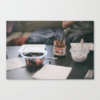 nutella Canvas Prints featuring NUTELLA by Lauren Siegrist