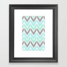 gray & blue navajo Framed Art Print