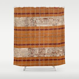 Tapis Lampong South Sumatra Indonesian Wrap for Woman Print Shower Curtain