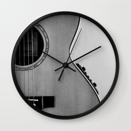 acoustic electric guitar music aesthetic close up elegant fine art photography  Wall Clock