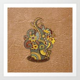 Hand-drawn doodle Art Art Print