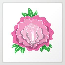 Womens Rose Vagina Womens Shirt Pussy Flower Pussies Vag Puss Gift Art Print